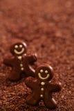 Dark chocolate gingerbread man Stock Photo