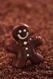 Dark chocolate gingerbread man Royalty Free Stock Images