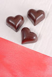 Dark Chocolate Hearts Stock Images