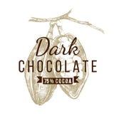 Dark chocolate logo template Stock Photography