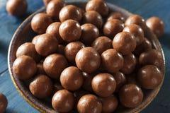 Dark Chocolate Malted Milk Balls Stock Photography