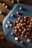 Dark Chocolate Malted Milk Balls Stock Image