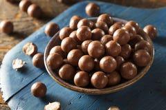 Dark Chocolate Malted Milk Balls Royalty Free Stock Images