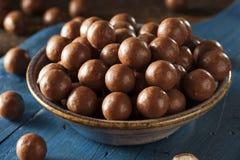 Dark Chocolate Malted Milk Balls Stock Images