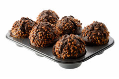 Dark chocolate muffins Royalty Free Stock Photography