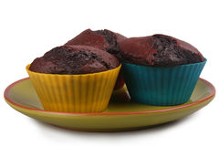 Dark Chocolate Muffins Royalty Free Stock Photo