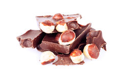 Dark chocolate with nuts Royalty Free Stock Photo
