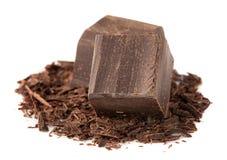 Dark chocolate over White Royalty Free Stock Photos