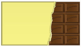Dark chocolate in the package Stock Images