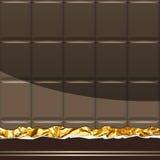Dark Chocolate pattern. Vector Illustration Royalty Free Stock Photos