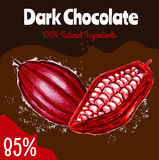 Dark Chocolate 85% percent Royalty Free Stock Image