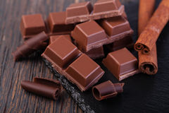Dark chocolate Stock Image