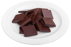 Dark chocolate pure Stock Photo