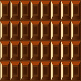 Dark chocolate seamless pattern Royalty Free Stock Photography