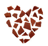 Dark chocolate in the shape of a heart Royalty Free Stock Image