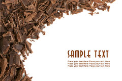 Dark chocolate shavings Stock Photography