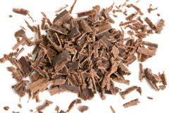 Dark chocolate shavings Stock Photo