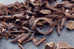 Dark chocolate shavings Stock Photography