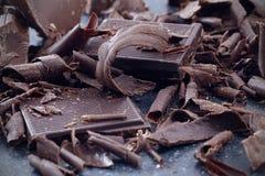 Dark chocolate shavings Royalty Free Stock Photo