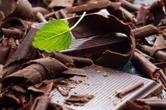 Dark chocolate shavings Royalty Free Stock Images
