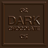 Dark Chocolate Square Stock Images