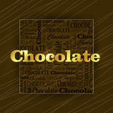 Dark chocolate square Stock Photography