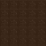 Dark Chocolate Squares Stock Image