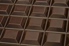 Dark chocolate squares Stock Photography
