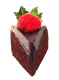 Dark chocolate strawberry cake Stock Photos