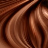 Dark chocolate swirl Stock Image