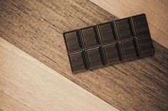 dark chocolate tablet Stock Image
