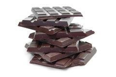Dark Chocolate Tablets Stock Photography