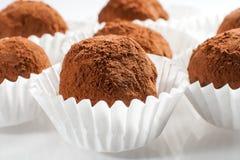Dark chocolate truffle. Royalty Free Stock Photo