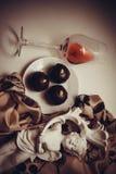 Dark chocolate truffles Royalty Free Stock Photography