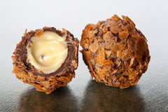 Dark chocolates Royalty Free Stock Photo