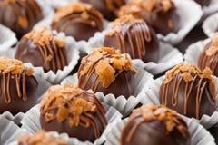 Dark chocolates candies Royalty Free Stock Photos