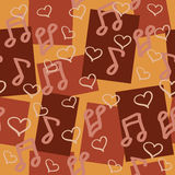 Dark chocolaty seamless pattern for music lovers Royalty Free Stock Images