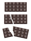 Dark chokolate bar Royalty Free Stock Image