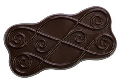 Dark chokolate coverd biscuit Royalty Free Stock Photo