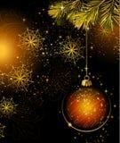 Dark Christmas background Royalty Free Stock Photos