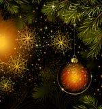 Dark Christmas background Royalty Free Stock Photography