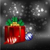 Dark Christmas Background Stock Photos