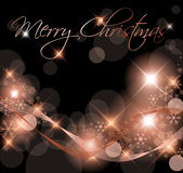 Dark Christmas background / card Royalty Free Stock Photo