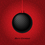 Dark Christmas background for greeting cards. The EPS file contain a isolated elements. The pattern of the ball and the background can be removed and the Royalty Free Stock Photo