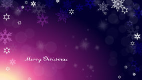 Dark Christmas background with snowflakes Royalty Free Stock Photo