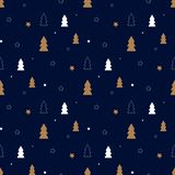 Dark christmas pattern stock illustration