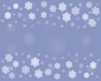 Dark Christmas snowflakes background Stock Photography
