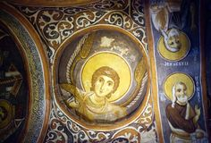 Dark Church in Goreme, Cappadocia, Turkey Stock Photo