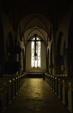 Dark church interior Royalty Free Stock Photo