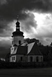 The dark church Royalty Free Stock Images